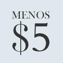 Menos $5